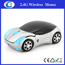 2.4 Ghz Wireless Car Shape Mouse With Blue Headlight
