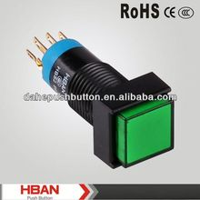 CE ROHS plastic latching led push button switch