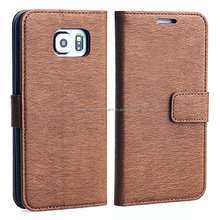 OEM Smart Phone PU Leather Wallet Case for Samsung Galaxy S6