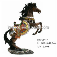 Resin chinese horse sculpture