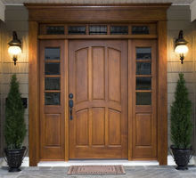 Stained or painted solid wood front doors SC-1014