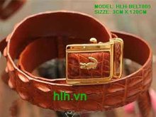Brown Alligator Leather Belt HLH-BELT005