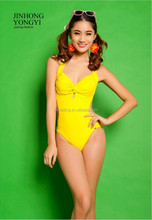 Factory Price New Sexy One -Piece Yellow /Blue /Black Girl Bikini