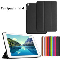 New Slim Voltage Folding Stand Leather Case Luxury Magnetic Book Cover For iPad Mini 4 Flip Protector
