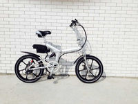 light weight folding electric bike TZ201with bafang motor tourney 6 speed motorcycle