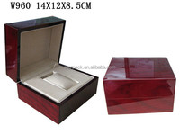 Imperial Noble Design High Glossy Piano Lacquer Wooden Gift Box Single Watch Packing Boxes For Ladies With Cushion Insert W960