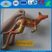 Promotion Gold Inflatable Kangaroo, Display Yellow Tail Inflatable Kangaroo