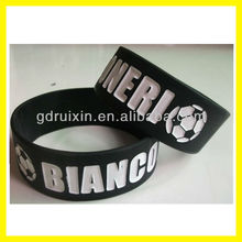 I love soccer one inch silicone wristband for sports