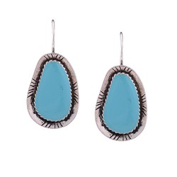 European Western Wholesale Big Women Blue and Red Resin Stone Earrings