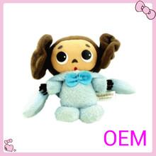 Mini customized lovely plush girl doll toys for chidren