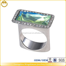 custom designs mens alloy ring with gemstones in lowest price