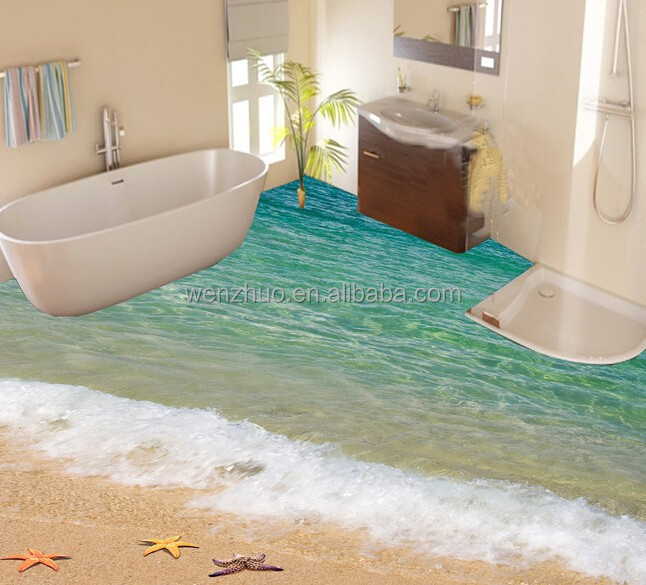 Bathroom Seaworld Picture Porcelain Wall And Floor 3d Tile