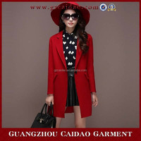 Customer made cashmere wool overcoat paragraph dust coat grows in cloth coat female