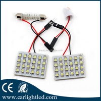 12v 1210 Car Led Roof Lamp Led Auto Interior Reading Dome Lights 24smd for all cars