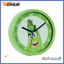 plastic round 6 inch clock for gifts