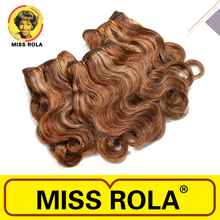 MISS ROLA wholesale three tone ombre brazilian hair weave wet and wavy
