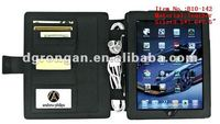 Convertible leatther charging station Case For iPad, iPad2, and iPad3(B10-142)