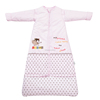 Children's 100% cotton baby sleeping bag detachable sleeve and detachable cotton fillings quilt for four seasons pink color