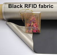 Black niclel copper RFID shielding Fabric for Wallets Bags Phones Laptop for Electromagnetic shielding