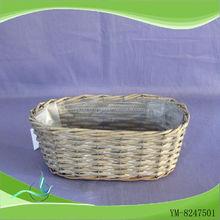 Venta al por mayor de sauce bandeja de la cesta, rectangular cesta de mimbre bandeja, el pequeño óvalo cestas de mimbre