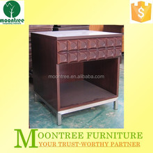 Hand Carved MNS-1101 Top Quality Five Star Hotel Mohagany Wooden Nightstand