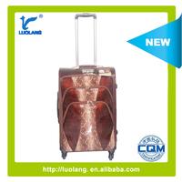 2015 topest PU fashion rolling Python 4 wheels trolley luggage /luggage bags/suticase
