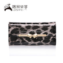 Women PU Leather Leopard new Clutch Purse Handbag new Long Wallet Bag for Evening Party