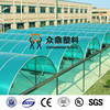 UV coated translucent polycarbonate sheet pc car park roofing sheet
