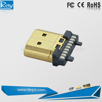 new product 1080p HDMI connector solder golden plated