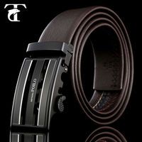 Latest style mens western black genuine leather belts for sale