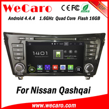 "Wecaro Android 4.4.4 car dvd player 8"" touch screen for nissan qashqai car mp3/mp4 player WIFI 3G A9 cpu 2014 2015"