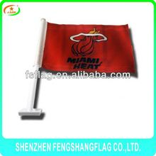 double sided printing baseketball club Miami Heat car window flag
