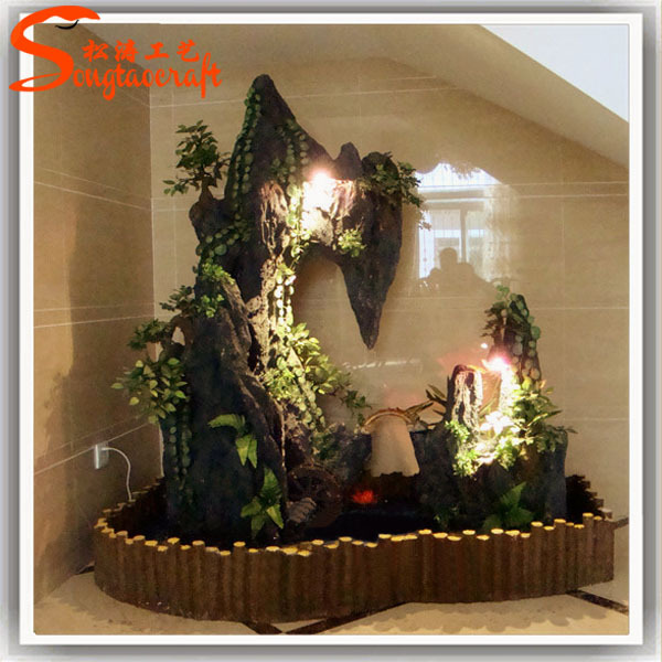 Chinese Fiberglass Indoor Fountains And Glass Waterfalls