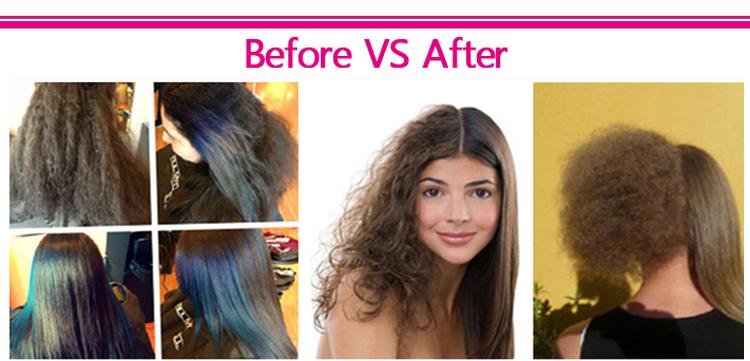 Brazilian keratin for hair straightening