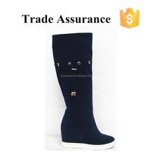 dark blue hidden heel boots