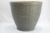 Round Rattan Cheap&High Quality PE Gardening Plastic Flower Pot