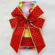 Popular Wholesale Packing Two Color Ribbon Pull Bow, Red Velvet butterfly bow tie for gift packing