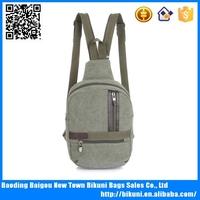 Cute leisure canvas sports shoulder bag backpacks for travel