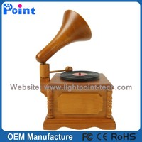 Creative design best Gramophone selling wooden music box