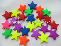 Bulk Price AAA Quality New Chunky Acrylic Fluorescence Neon Star Beads for Chunky Necklace jewelry