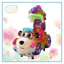 Fiberglass swing car, cartoon animal kiddie rides, swing machine on toys