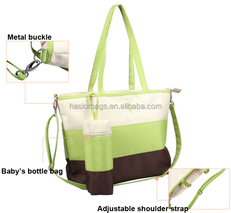 Wholesale Diaper Bag Mommy Tote Bag with Baby Bottle Warmer Bag