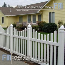 top quality plastic pvc fence panel/pvc white picket fence manufacturer in China