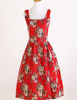 OEM supplier vintage style clothes 50s dress 60s rockabilly clothes woman prom dresses printde white rose dancing dress