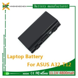11.1V 4800mAh li-ion batteries a32-t12 for Asus dry cell rechargeable battery