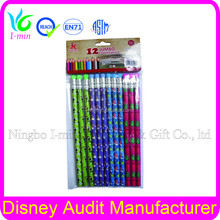 """7"""" Set Packaging and Standard yellow pencil custom fluorescent colored pencil"""