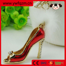 red dance high heel shoes keychain