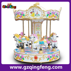 Qingfeng park attraction equipment rides carousel horse rides to put in the mall