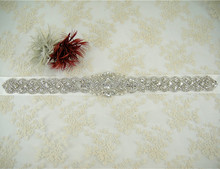 Stunning Iron on Bridal Belt Sash Beaded and Rhinestone Wedding Accessories Floral Crystal Bridal Sash Any Colour Ribbon