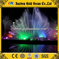 Peacock Tail Fountain Modern Swing Fountain Water Feature with Led Light